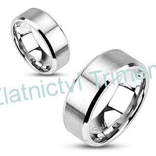 Levné snubní prsteny ocel 1 pár OPR1393 (Ocelové snubní prsteny levné 1 pár)