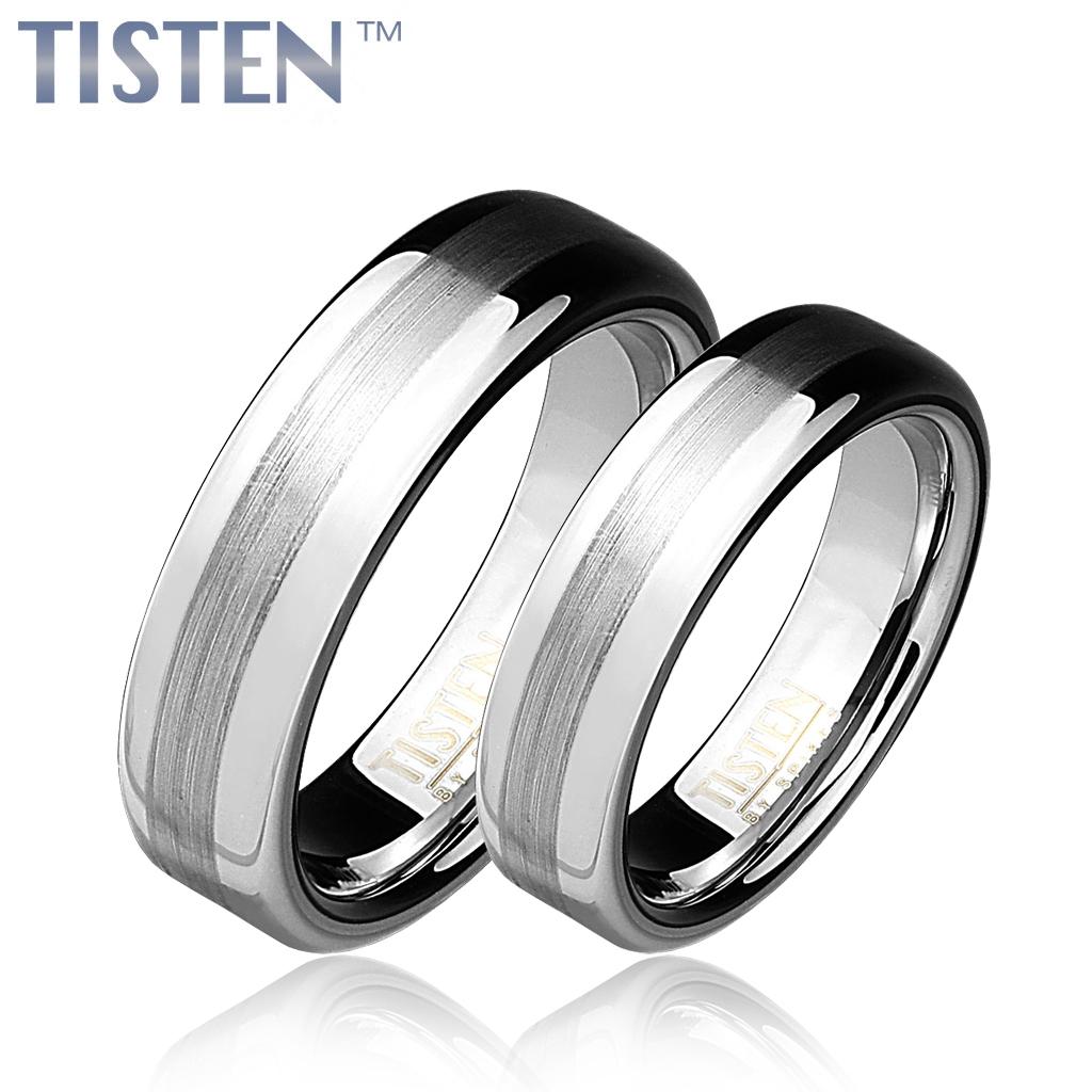 Tistenové snubní prsteny pár TIS0009