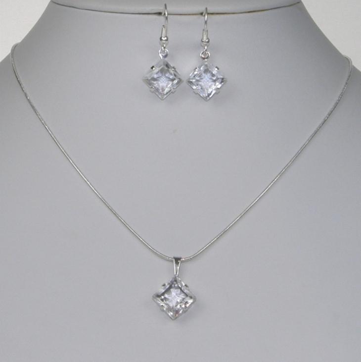 Souprava štrasové bižuterie náhrdelník, náušnice (Souprava štrasové bižuterie náhrdelník, náušnice )