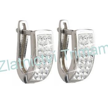 Stříbrné náušnice kruhy SWAROVSKI® elements, crystal EG2011 AG925/1000 (Stříbrné náušnice kruhy SWAROVSKI® elements, crystal EG2011 AG925/1000)