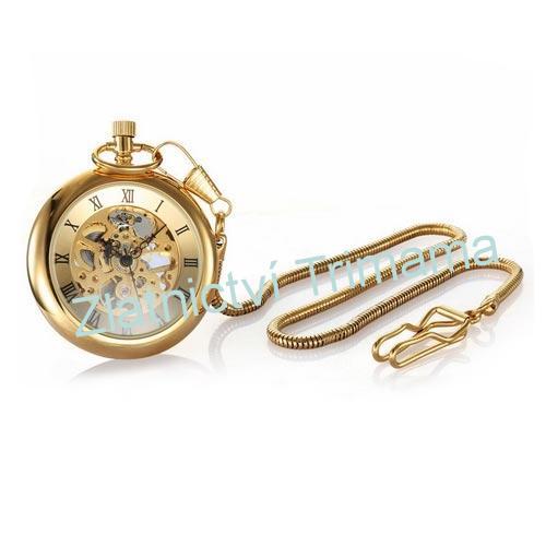 Kapesní retro hodinky zlacené cibule