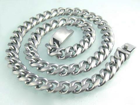 Pánský masivní řetěz matný 13 mm chirurgická ocel