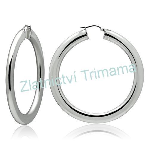 Náušnice kruhy 50 mm, 6 mm široké chirurgická ocel