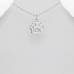 Stříbrný přívěšek psí tlapka Ag 925/1000
