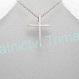 Stříbrný přívěšek kříž Ag 925/1000