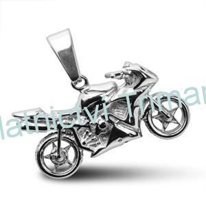 Přívěšek motorka chirurgická ocel