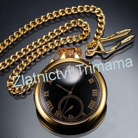 Kapesní hodinky zlacené cibule
