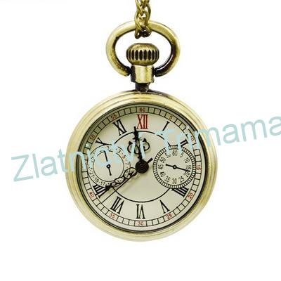 Malé retro kapesní hodinky cibule