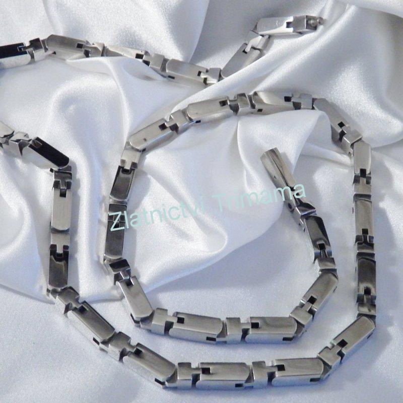 Masivní pánský řetěz kostky chirurgická ocel