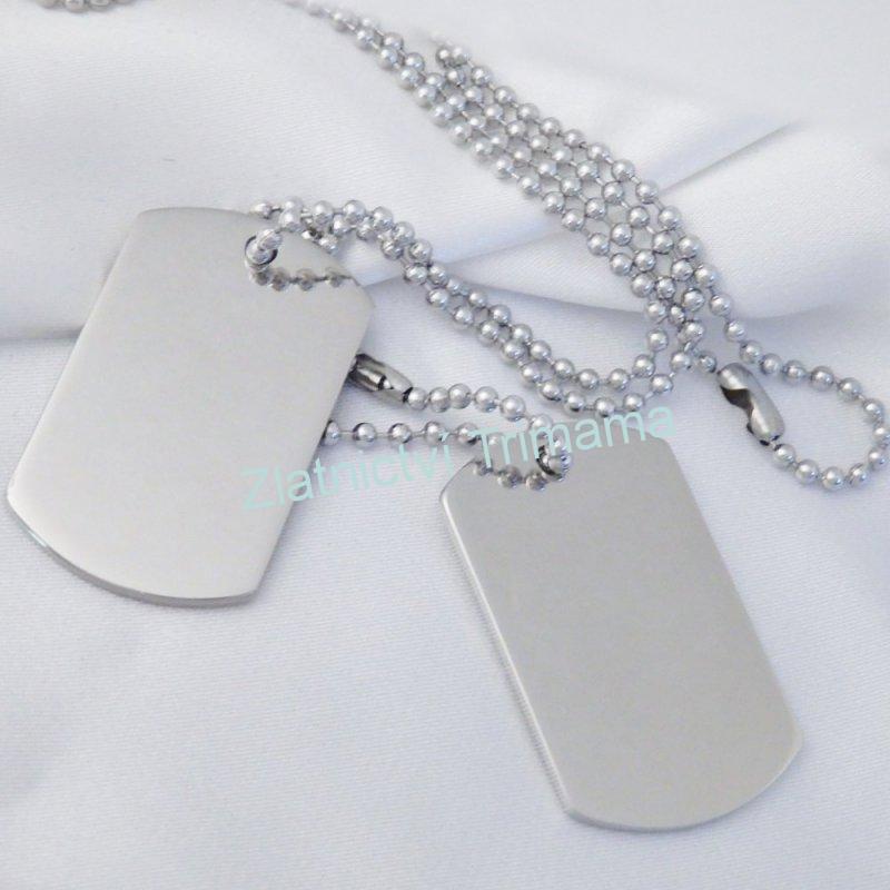 Přívěšek vojenské známky chirurgická ocel
