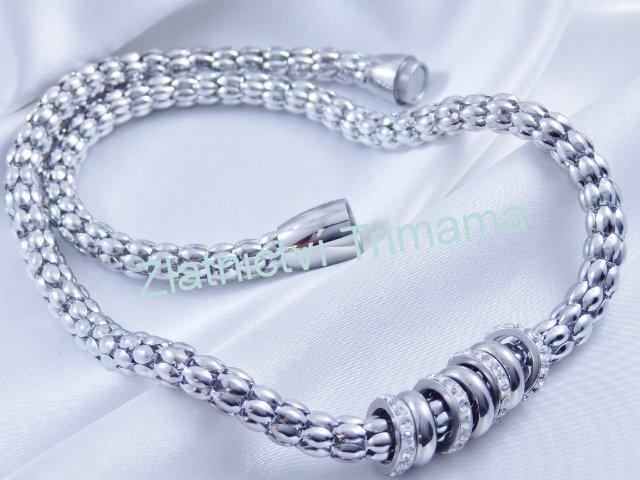 Dámský náhrdelník kuličky chirurgická ocel