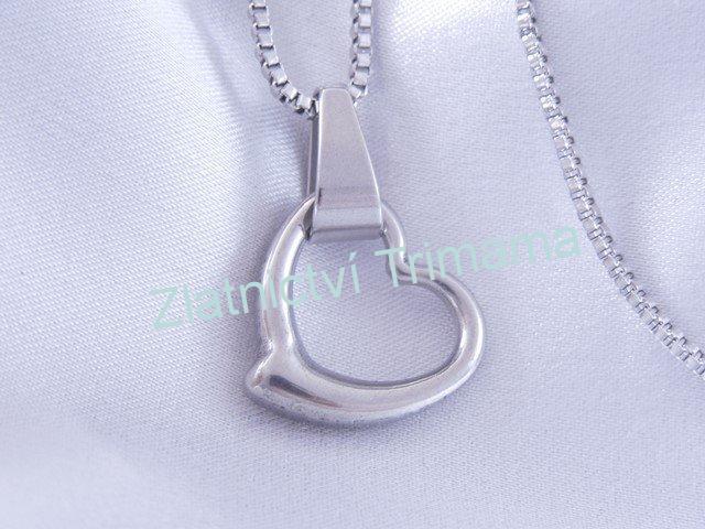Přívěšek srdce s řetízkem chirurgická ocel