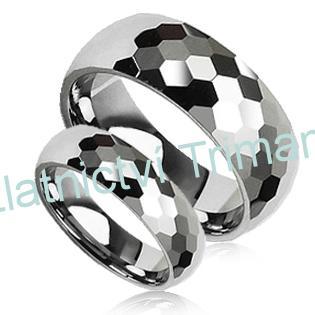 Snubní prsteny wolfram pár NWF1006 (Snubní prsteny wolfram pár NWF1006)