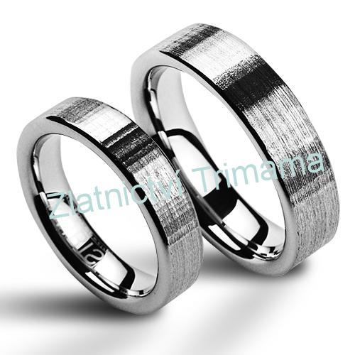 Snubní prsteny wolfram pár NWF1009 (Snubní prsteny wolfram pár NWF1009)