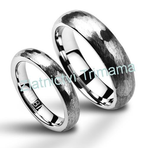 Snubní prsteny wolfram pár NWF1010 (Snubní prsteny wolfram pár NWF1010)