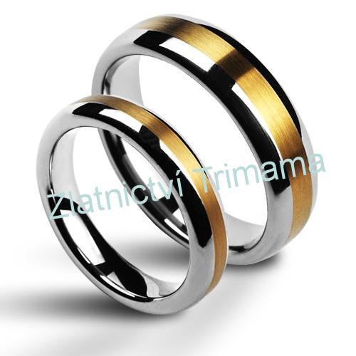 Snubní prsteny wolfram pár NWF1011 (Snubní prsteny wolfram pár NWF1011)