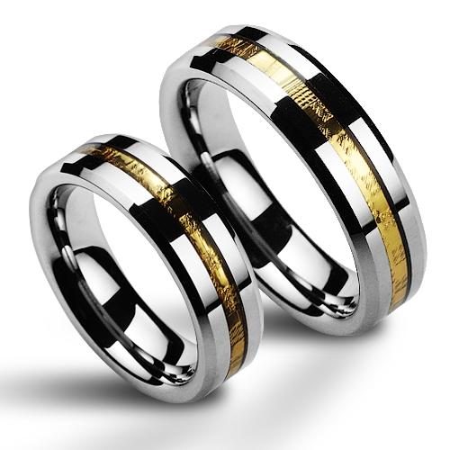Snubní prsteny wolfram pár NWF1015 (Snubní prsteny wolfram pár NWF1015)