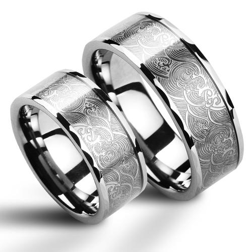 Snubní prsteny wolfram pár NWF1016 (Snubní prsteny wolfram pár NWF1016)