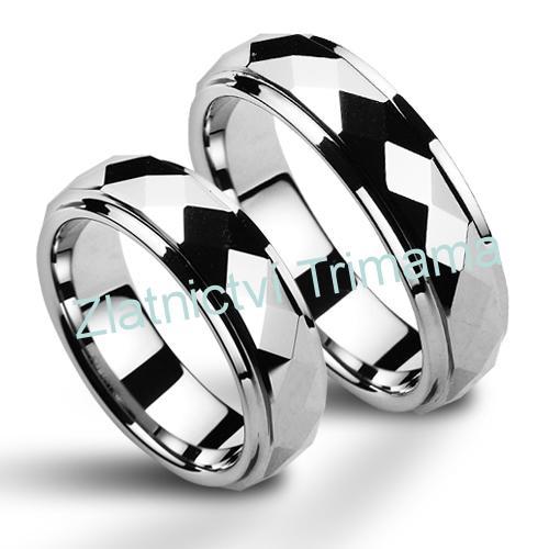 Snubní prsteny wolfram pár NWF1036 (Snubní prsteny wolfram pár NWF1036)