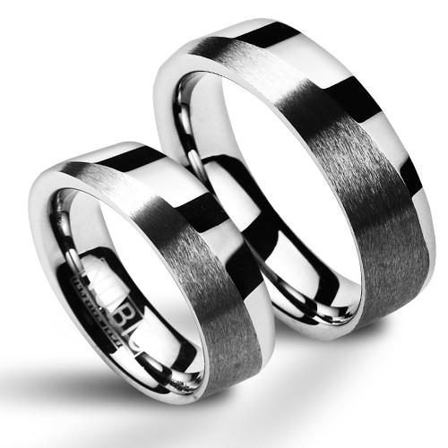 Snubní prsteny wolfram pár NWF1048 (Snubní prsteny wolfram pár NWF1048)