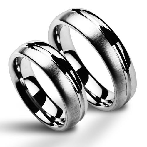 Snubní prsteny wolfram pár NWF1049 (Snubní prsteny wolfram pár NWF1049)