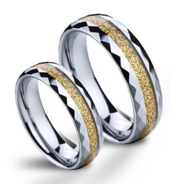 Snubní prsteny wolfram pár NWF1050 (Snubní prsteny wolfram pár NWF1050)
