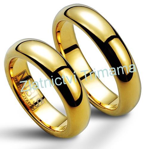 Snubní prsteny wolfram pár NWF1051 (Snubní prsteny wolfram pár NWF1051)