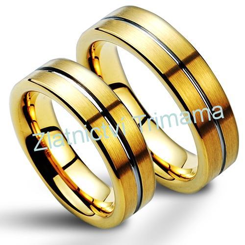 Snubní prsteny wolfram pár NWF1053 (Snubní prsteny wolfram pár NWF1053)