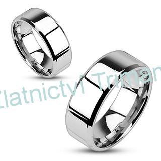 Levné snubní prsteny chirurgická ocel pár OPR1303 (Levné ocelové snubní prsteny 1 pár)