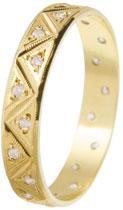 Snubní prsten zlatý žluté 14ti karátové zlato se zirkonem 585/000 BENET GOLD 542 (Snubní prsten zlatý žluté 14ti karátové zlato se zirkonem 585/000 BENET GOLD 542)