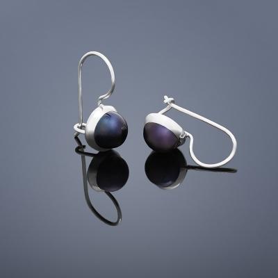 Stříbrné náušnice perly stříbro 925/1000 BUKA105 (Stříbrné náušnice perly stříbro 925/1000 BUKA105)