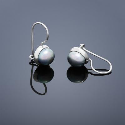 Stříbrné náušnice perly stříbro 925/1000 BUKA106 (Stříbrné náušnice perly stříbro 925/1000 BUKA106)