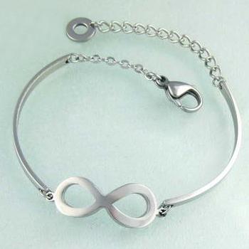 Dámský náramek infinity nekonečno chirurgická ocel (Náramek infinity pro ženy z lesklé chirurgické oceli)