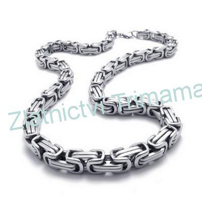 Pánský ocelový řetěz, šíře 5 mm, délka 60 cm OPE1064 (Masivní řetízek pro muže z chirurgické oceli)