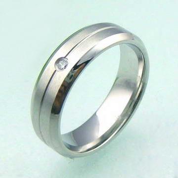 Ocelový prsten se zirkonem OPR1529 (Prsten kroužek se zirkonem chirurgická ocel)
