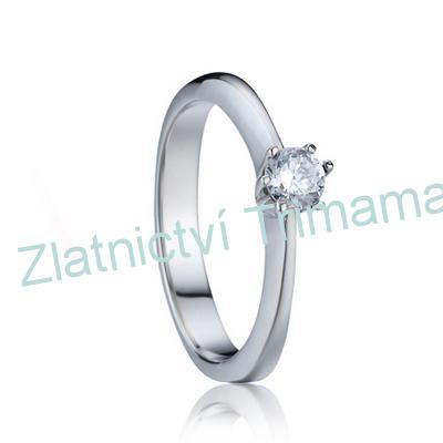 Prsten zásnubní se zirkonem chirurgická ocel OPR1544 (Ocelový zásnubní prsten s kamínkem chirurgická ocel)
