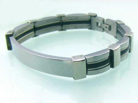 Náramek s destičkou chirurgická ocel (Pánský ocelový náramek s destičkou OPA1040)