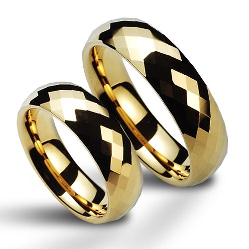 Wolframové snubní prsteny - pár NWF1033GD (Wolframové snubní prsteny - pár NWF1033GD)