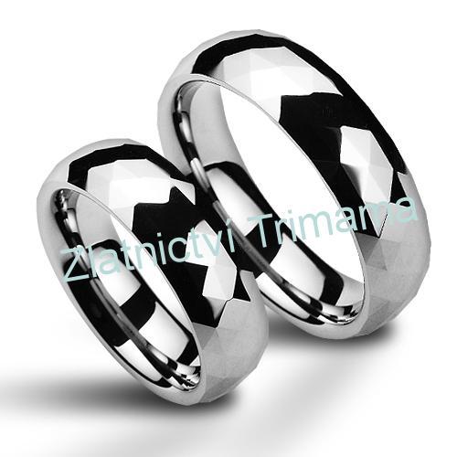 Wolframové snubní prsteny - pár NWF1035 (Wolframové snubní prsteny - pár NWF1035)