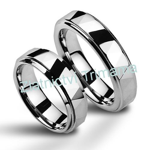 Wolframové snubní prsteny - pár NWF1038 (Wolframové snubní prsteny - pár NWF1038)
