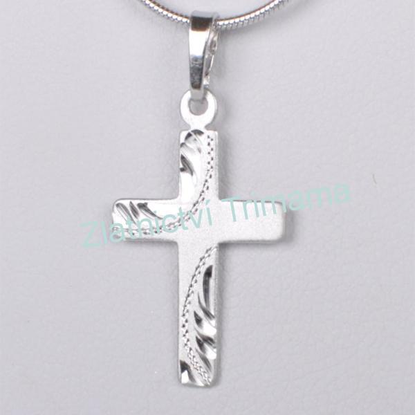 Stříbrný přívěšek křížek Ag 925/1000 ZB51434/0 (Stříbrný přívěšek křížek Ag 925/1000 ZB51434/0)