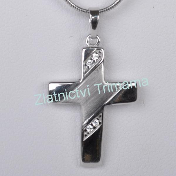 Stříbrný přívěšek křížek Ag 925/1000 ZB51458/0 (Stříbrný přívěšek křížek Ag 925/1000 ZB51458/0)