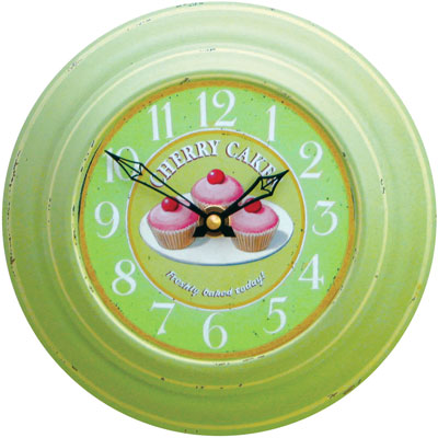 Plechové retro hodiny - Koláče (Plechové retro hodiny - Koláče)
