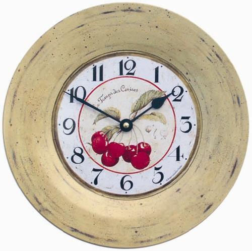 Nástěnné retro hodiny - Třešně (Nástěnné retro hodiny - Třešně)