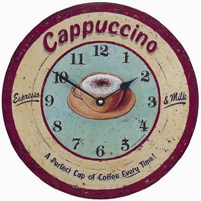 Nástěnné kuchyňské retro hodiny - Káva (Nástěnné kuchyňské retro hodiny - Káva)