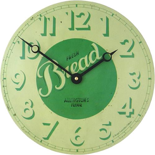 Plechové retro hodiny - Chleba (Plechové retro hodiny - Chleba)