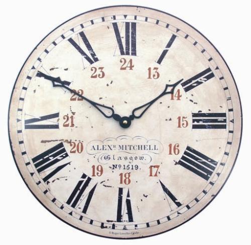 Nádražní retro hodiny - Nádraží Glasgow Rogere Lascelles (Nádražní retro hodiny - Nádraží Glasgow Rogere Lascelles)