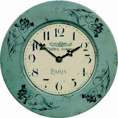 Plechové retro hodiny - Paris Roger Lascelles (Plechové retro hodiny - Paris Roger Lascelles)