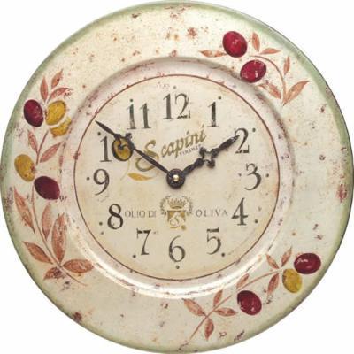 Plechové hodiny na zeď - Olivy - Roger Lascelles (Plechové hodiny na zeď - Olivy - Roger Lascelles )