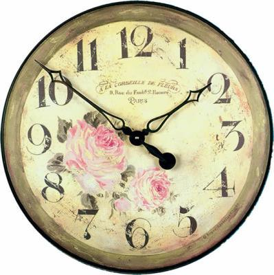 Velké nástěnné hodiny - Růže Roger Lascelles (Velké nástěnné hodiny - Růže Roger Lascelles)